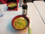 Ramen bowl, with egg and mushroom